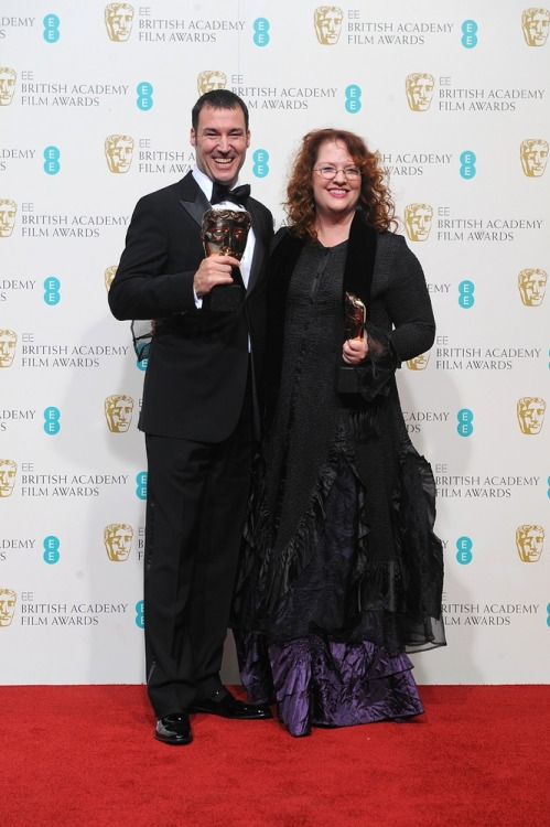 davidmlally:  Brave wins the 2013 BAFTA for Best Animated Feature. Nice picture of Mark and Brenda with the award here!