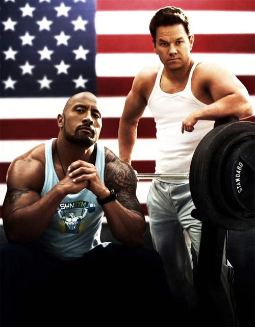 "dwayne ""the rock"" johnson & mark wahlberg."