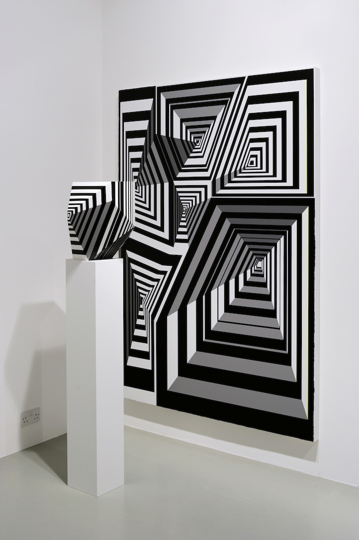 mitjaissick:  Tobias Rehberger Untitled, 2012 2 partswood, canvas, paint, 200 x 140 x 6 cm / 160 x 37 x 28 cm