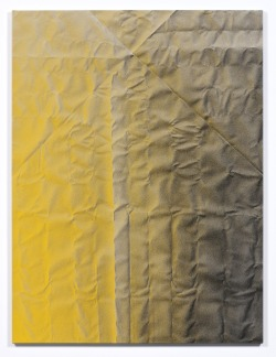 caminonovela:  Tauba Auerbach Untitled (Fold)2011Acrylic on canvas / Wooden stretcher60 x 45 inches 152.4 x 114.3 cm