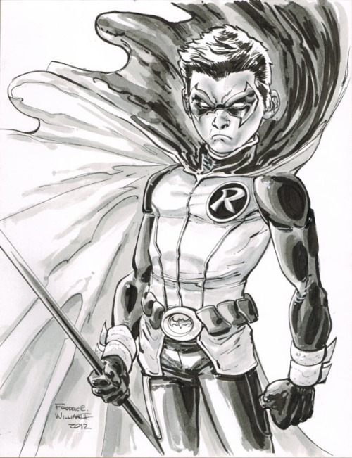 Damien Wayne by Freddie Williams II. #DOPE
