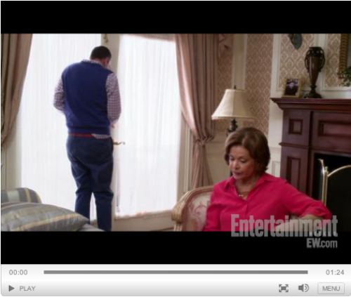 popculturebrain:  Watch the First New 'Arrested Development' Clip | EW Exclusive  Mama bird feeds baby bird, well, some form of sustenance, albeit unhealthy… About a month to go until the new season! Crazy.