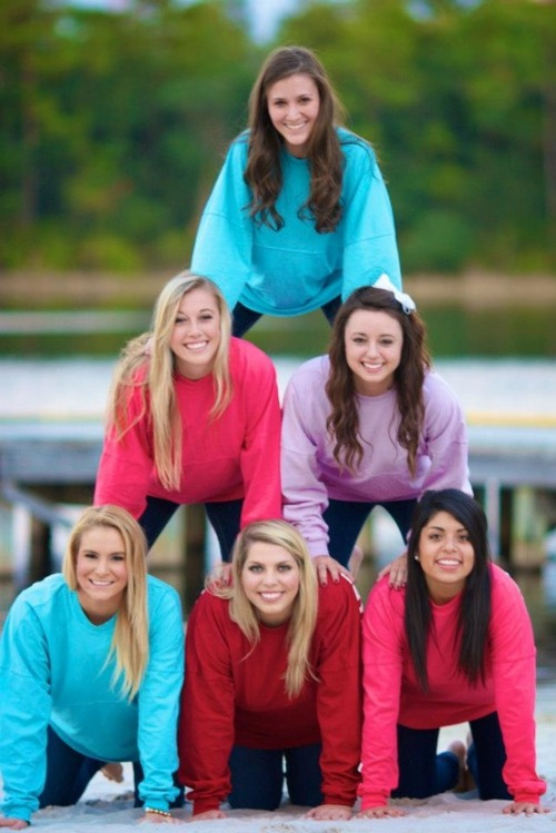 sratplease:  KKG spirit jerseys. Way too cute.