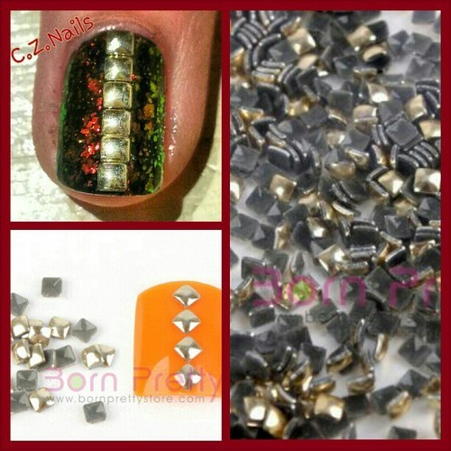 Like the studs that were used in my recent nail set? Here is a closer look! They add a sexy look to an accent nail or all ten! I got them on: bornprettystore.com the use the coupon code CZNK31 to get 10% off!!! #nailartwow #nailswag #studs #nailstuds #nailart #bornprettystore #nails #nailartaddict #nailsartswag #nailjunkie #cute #love #coupon #cool