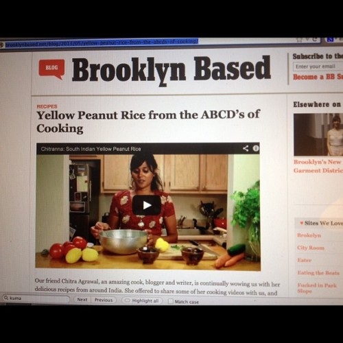 Thanks @brooklynbased for posting my yellow peanut rice recipe, shot and edited by @alana565 @foodexit