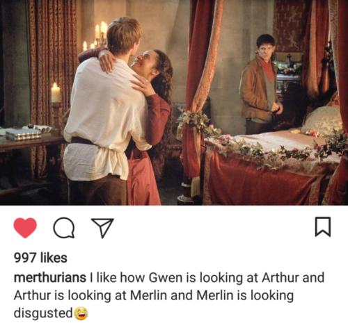 gwen is the third wheel arthur merthur Merlin gwen