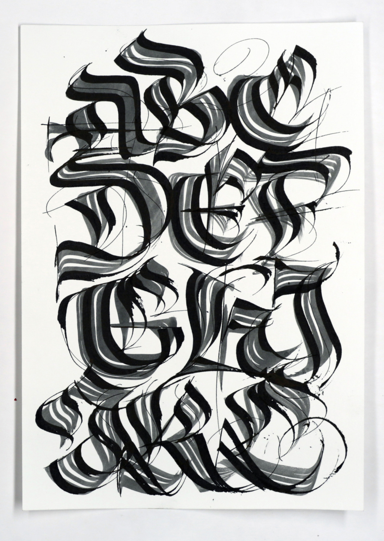 Calligraphi.ca - Letters - Brush and Pilot Parallel Pen - Misha Karagezyan