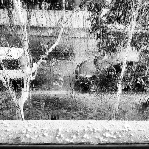 So easily distracted by #weather. Some #hail on the office window.  #storm #rain #melbourne