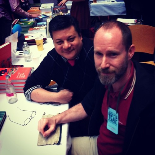 Me & Patrick McKeown. Hair Shirt, his first graphic novel, is great! #tcaf #comicnewsinsider #selfmadehero