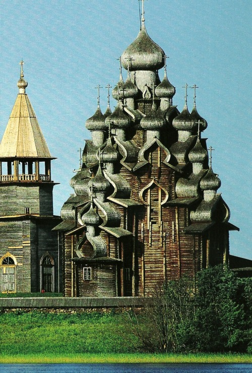 vintagenatgeographic:  Church of Kizhi Island, Russia National Geographic | June 1994