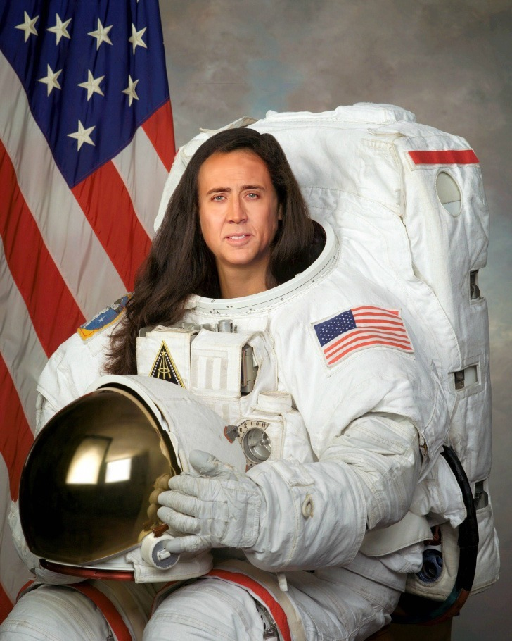 thelifeofsloan:  Nick Cage wearing a space suit with luscious hair. Probably the best thing ever.
