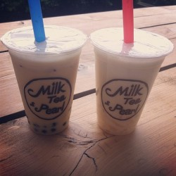 Conversocial #lunchtimebikegang does #bubbletea today! #boxpark #milkteaandpearl  (at Milk Tea & Pearl)