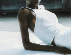 "spring1999:  vogue germany january 1999 ""lichte visionen"" oluchi onweagba photographed by ruven afanador"