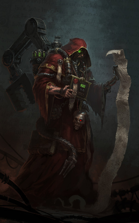 warhammer-fan-art:  Adeptus Mechanicus by cribs