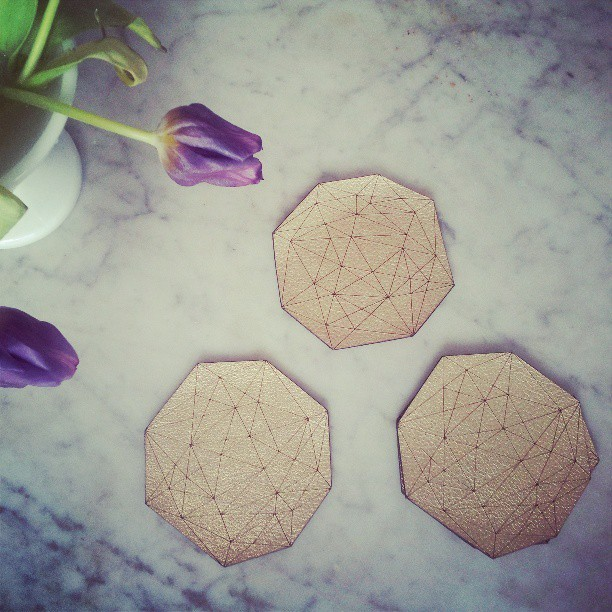 LOVE my coasters from @ABC_carpet gifted by @iammateriallust and @oppressionism Thank you guys! @designerfluff1