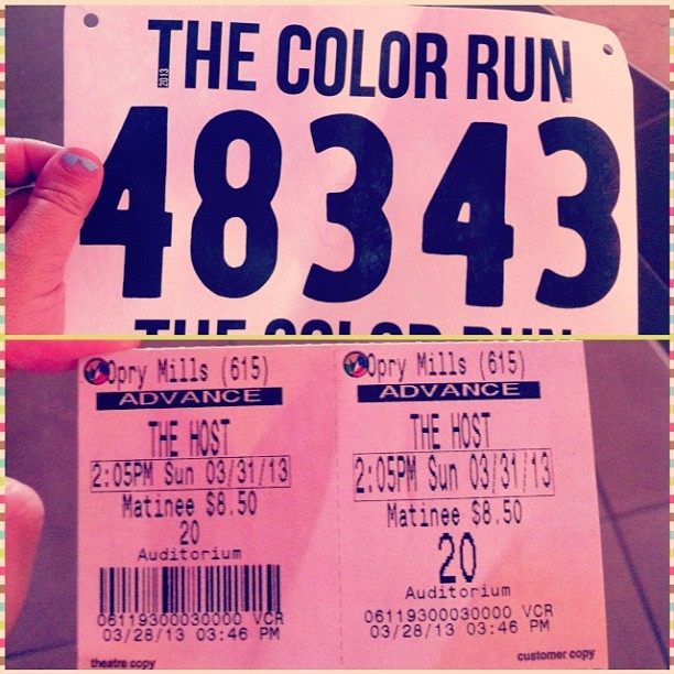 I'm so excited for this weekend! I've got the Color Run, Table Top Day, Doctor Who comes back and The Host!