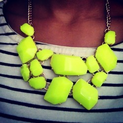 #Neon. Are you surprised? #jewelry #fashion