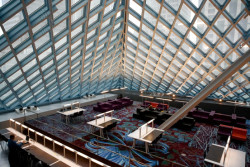 Interior of the 2004 Seattle Public Library.