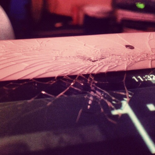 #damn do you see this? #ouch #thathurts #Apple #iPad #screen