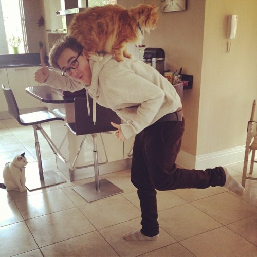 giovannafletcher1:  Got home to find @tommcfly practising for his Britain's Got Talent audition… Xx