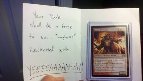 Magic: the Gathering - Trades Reddit User freefire6 received this trade recently along with a witty CSI Miami / Horatia Cane quip. So Much Win !