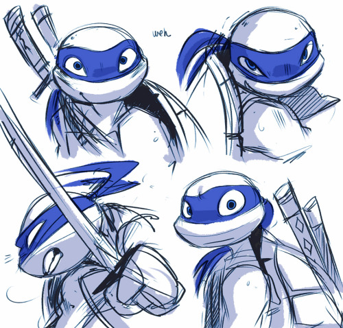 baysalt:  TMNT 2k12, turning Leo into my favorite turtle?? witchcraft?????  AAHH LOOK AT THESE AMAZING LEO DRAWS omgosh *u*