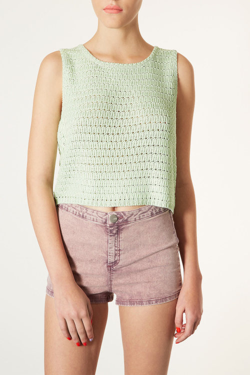 Knitted sleeveless crochet top available here!