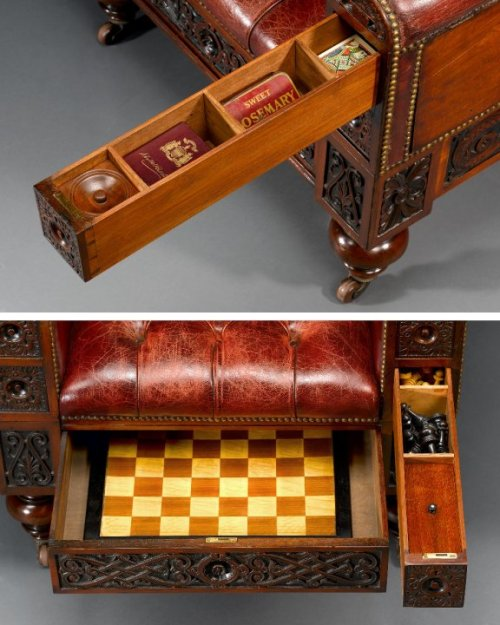 fuckyeahvictorians:  steampunktendencies:  The Gentleman's Surprise Chair (Circa 1880)  oh god i need dis  WHERE TO GET