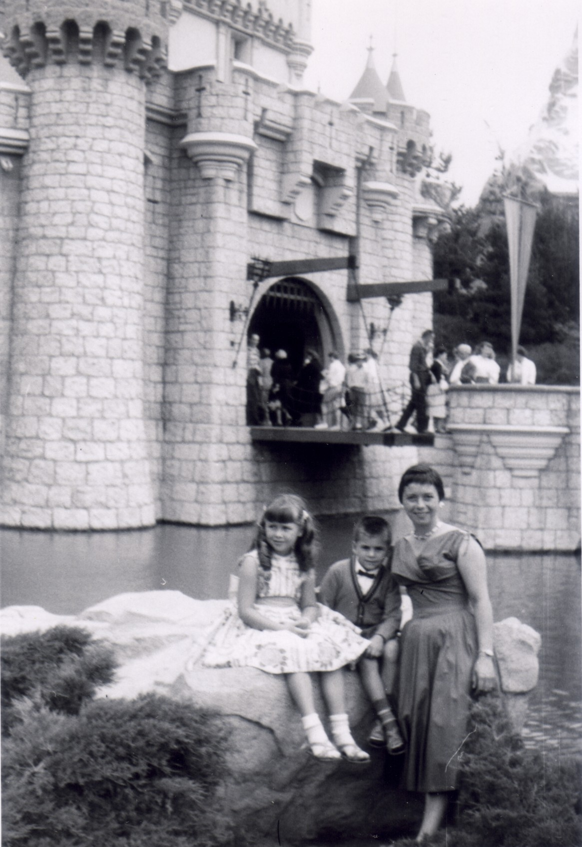 My Late Grandmother, God Mother, and Uncle  Disneyland 1956 (?)