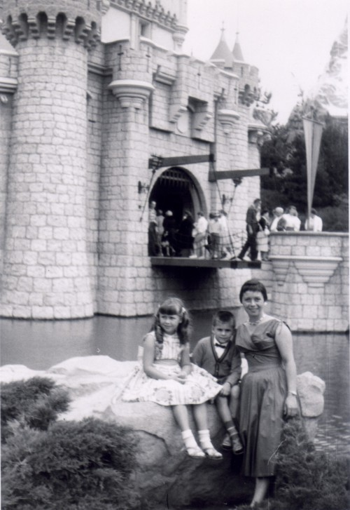 vintagedisneyparks:  My Late Grandmother, God Mother, and Uncle  Disneyland 1956 (?)