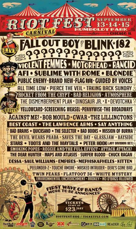 The amazing DeVotchKa is playing Riot Fest. Also on the bill - our friends Bad Religion.   Oi!
