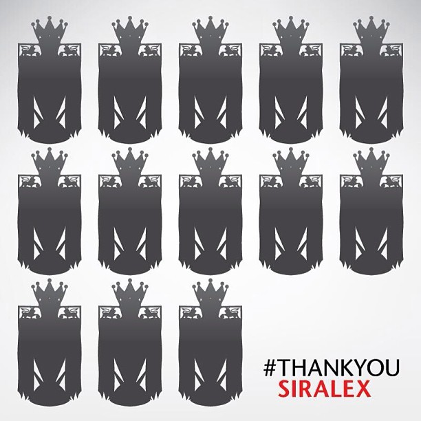 13 Premier Leagues. #thankyousiralex