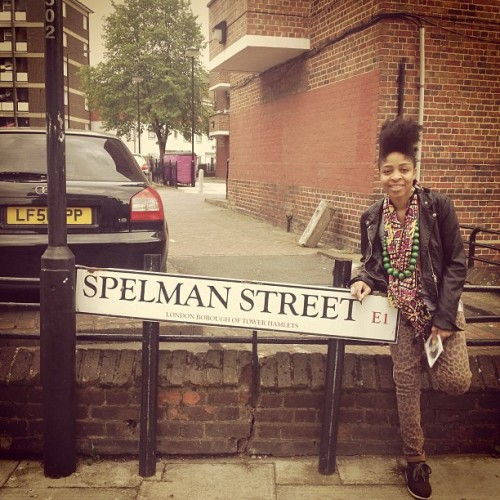 Oh #london . How'd you know?! #almamater #spelman #college #auc #uklove #missingyou