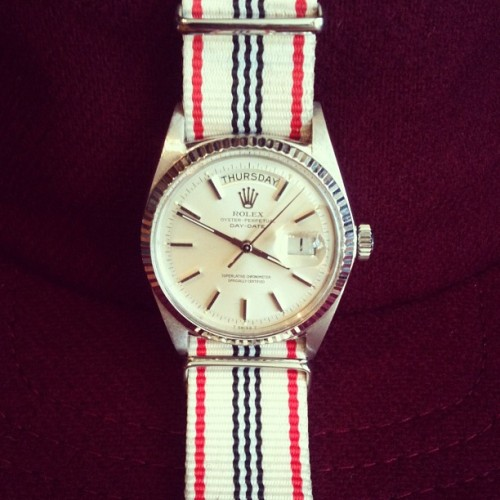 great 1960's vintage Rolex watch seen Taylorstitch, San Francisco
