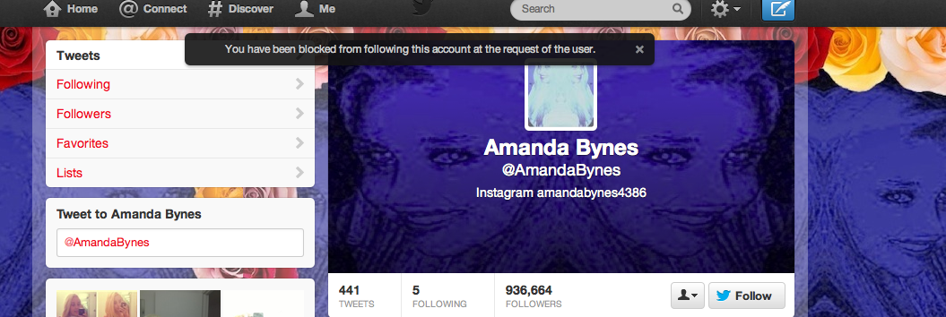 Apparently I am too ugly for Amanda Bynes she blocked me on twitter. #twerkingout