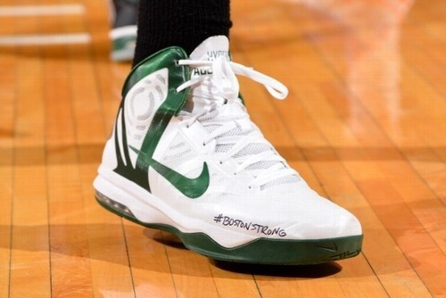 Jeff Green's shoes for playoff game #1 against the Knicks
