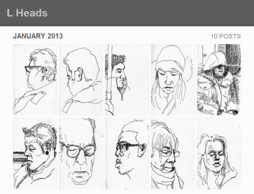 I have a new tumblr — L Heads — portraits of commuters on Chicago's Yellow, Purple and Brown 'L' lines. Please check it out!