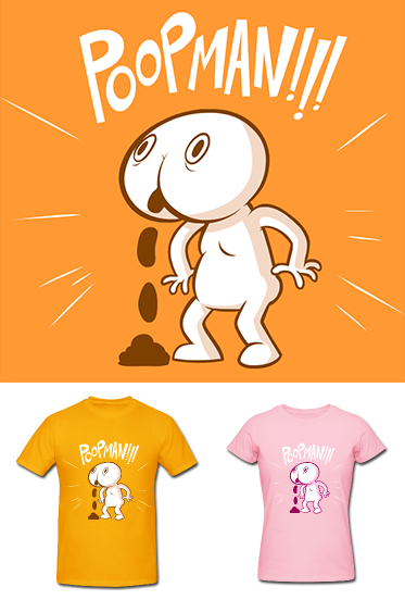 Shirts for people who poop! Available now in the Hotdiggedydemon store