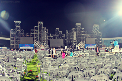 After Dream concert. No more fangirls and so many chairs for people who are going to clean up! :o