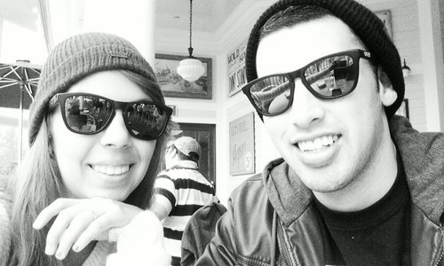 In love. With our obey beanies and Oakley glasses. I love this guy.