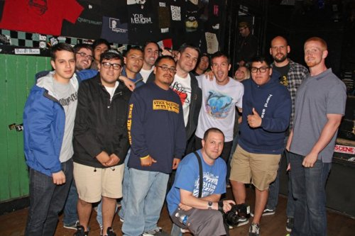 Cali crew with Walter Schreifels at chain reaction Anaheim Ca