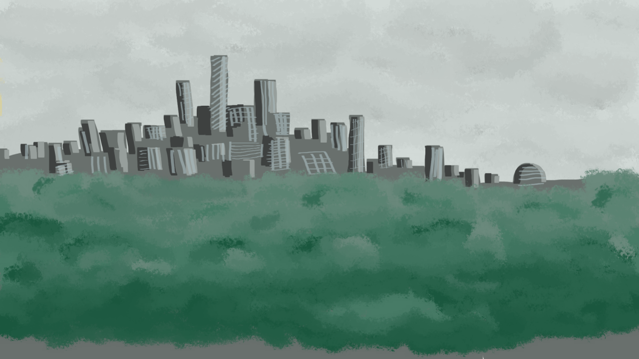 Environment Challenge #2 (redo) Urban i was pretty satisfied with my swamp drawing, so i skipped to the urban one. my city-drawing still needs work. probably would have helped if i looked up reference pictures, but whatever. i need to get into the habit of drawing every single day. even if i don't feel like it that day. today was one of those days.