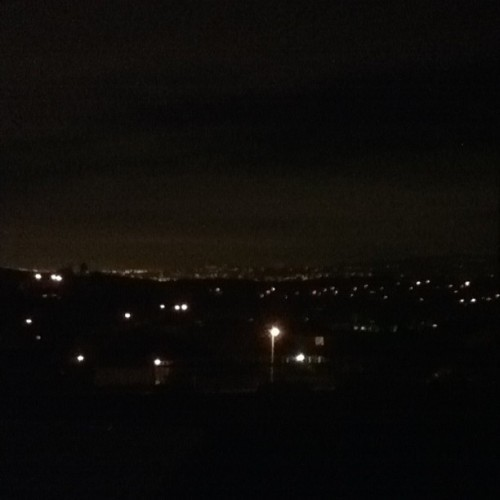 Will probably never get tired of this… #city #night #light #home #view #love #socal #california #december