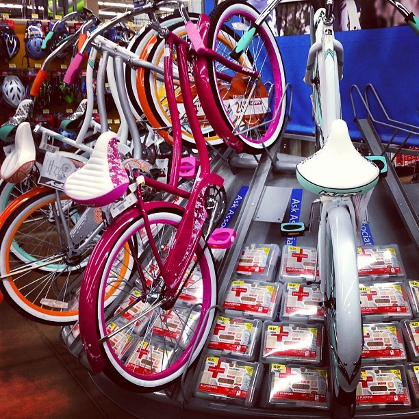 #bikes are dangerous… Bring your #bandaids! #walmart  (at Walmart Supercenter)