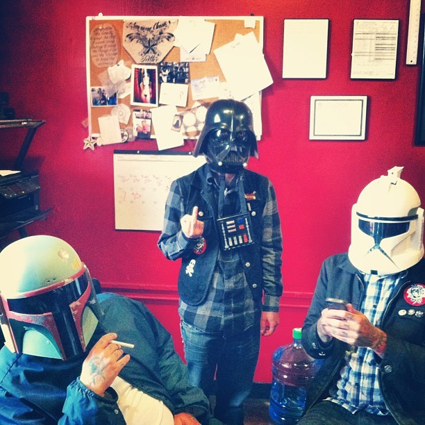 May the 4th be with you, always. @honkytonkman @josh_like_fire #maythe4th #starwars #starwarsshop #americanclassictattooandbodypiercing
