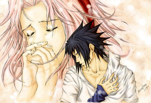 fuck-yea-naruhina-and-sasusaku:   Art by ~BeniSora59