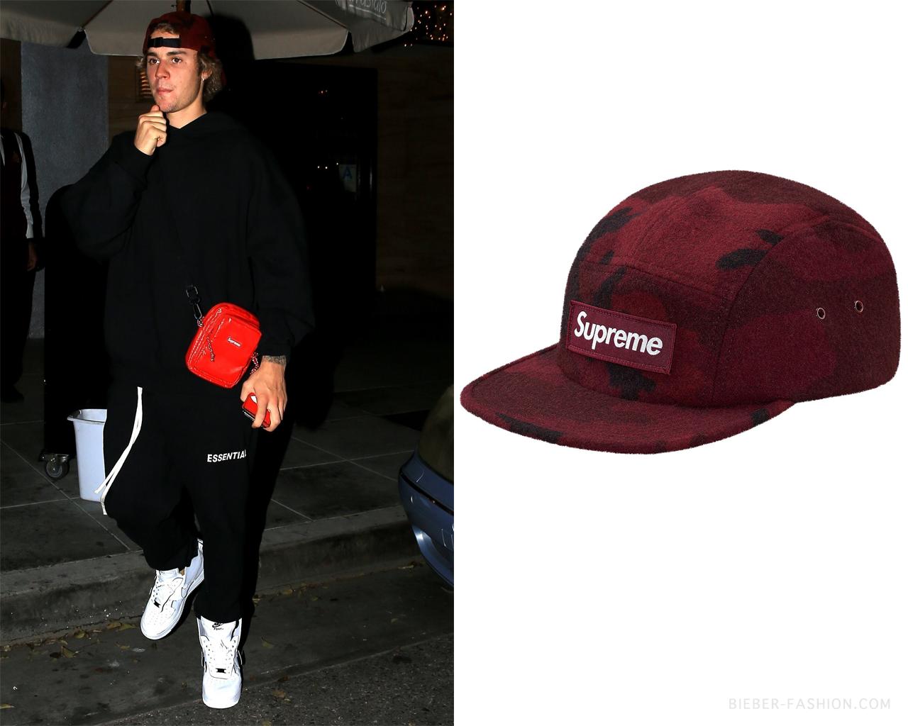 760572ca170 Supreme Camo Wool Camp Cap in Burgundy – Not A… – Justin Bieber