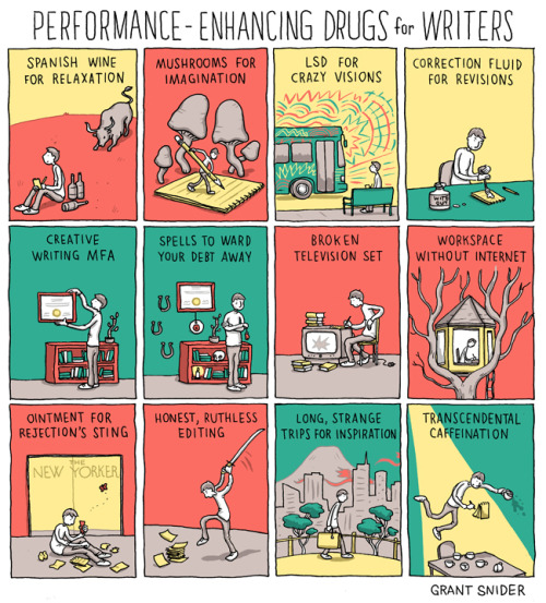incidentalcomics:  Performance-Enhancing Drugs for Writers