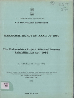 1986 maharashtra project affected persons rehabilitation act