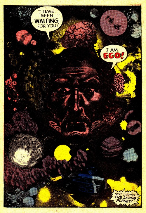 jthenr-comics-vault:  The first appearance of Ego, The Living Planet.From The Mighty Thor #132, art by Jack Kirby.